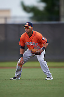 Houston Astros Alejandro Garcia (56) during an instructional league game against the Atlanta Braves on October 1, 2015 at the Osceola County Complex in Kissimmee, Florida.  (Mike Janes/Four Seam Images)