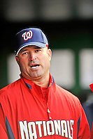 29 March 2008: Washington Nationals' field manager Manny Acta looks down the dugout prior to an exhibition game against the Baltimore Orioles at Nationals Park, in Washington, DC. The matchup was the first professional game played in the new ballpark, prior to the upcoming official opening day inaugural game. The Nationals defeated the Orioles 3-0...Mandatory Photo Credit: Ed Wolfstein Photo
