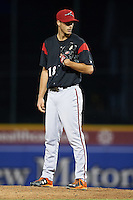 Richmond Flying Squirrels relief pitcher Tyler Rogers (18) during a game against the Erie SeaWolves on May 27, 2016 at Jerry Uht Park in Erie, Pennsylvania.  Richmond defeated Erie 7-6.  (Mike Janes/Four Seam Images)