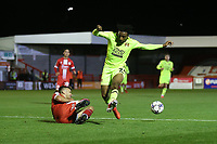 Jayden Sweeney of Leyton Orient and Archie Davies of Crawley Town during Crawley Town vs Leyton Orient, Papa John's Trophy Football at The People's Pension Stadium on 5th October 2021