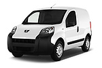 2017 Peugeot Bipper Pro 3 Door Car van angular front stock photos of front three quarter view