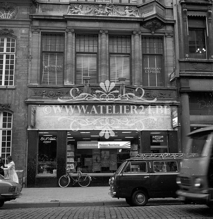Augustus 1976. Meir in Antwerpen.