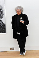 London, UK - 14 October 2020<br /> British artist Maggi Hambling at her new exhibition at Marlborough Gallery, where she has a solo exhibition to coinciding with her 75th birthday, featuring recent paintings responding to the seismic events of the present, works include a new series of self-portraits created in lockdown, a series depicting wild animals facing threat and intimate portraits of people laughing.<br /> CAP/JOR<br /> ©JOR/Capital Pictures