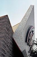 Googies: Ships Coffee Shop, Wilshire Blvd., Westwood. Boomerang Wall.  Photo '84.