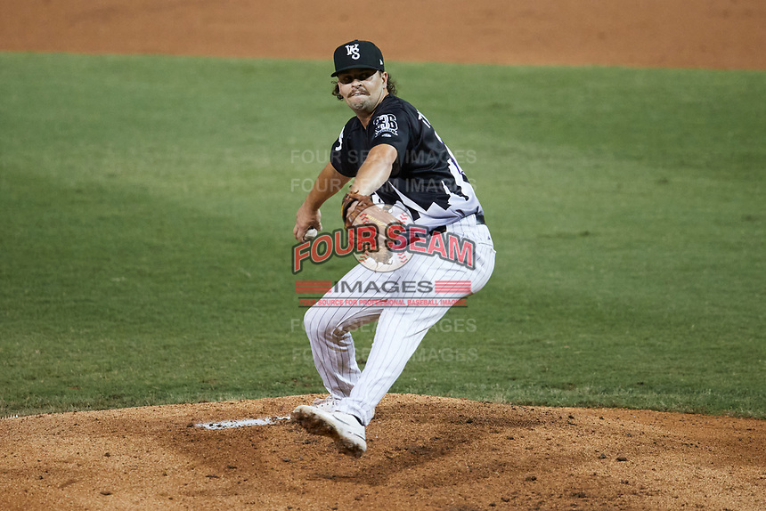 Winston-Salem Dash relief pitcher Kevin Folman (29) in action against the Asheville Tourists at Truist Stadium on September 17, 2021 in Winston-Salem, North Carolina. (Brian Westerholt/Four Seam Images)