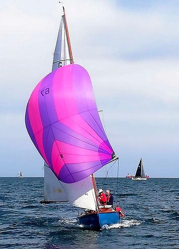 The newly-restored 25ft Glen OD Glenluce (Ailbe Millerick) on her way to winning her first race of 2021 last Saturday in Dublin Bay