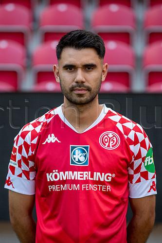 16th August 2020, Rheinland-Pfalz - Mainz, Germany: Official media day for FSC Mainz players and staff; Gerrit Holtmann FSV Mainz 05