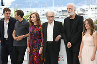 FRANZ HARDUIN, MATHIEU KASSOVITZ, ISABELLE HUPPERT, JEAN-LOUIS TRINTIGNANT, DIRECTOR MICHAEL HANEKE AND FANTINE HARDUIN - PHOTOCALL OF THE FILM 'HAPPY END' AT THE 70TH FESTIVAL OF CANNES 2017