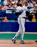 1989 FILE PHOTO - ARCHIVES -<br /> <br /> 1989 FILE -<br /> <br /> Tony Fernandez had to move quickly to avoid an inside pitch against the Tigers yesterday and in so doing grimaces in pain. However; he remained in the game.<br /> <br /> PHOTO : Bull, Ron<br /> <br /> PHOTO : Ron BULL - Toronto Star Archives - AQP