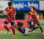 China Team in action during the HSBC Asian Rugby Sevens Series 2012 at the Yuanshen stadium on September 23, 2012 in Shanghai, China. Photo by Victor Fraile / The Power of Sport Images