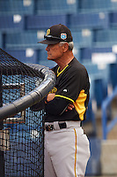 Bradenton Marauders coach Mike Lum during practice before a game against the Tampa Yankees on April 11, 2016 at George M. Steinbrenner Field in Tampa, Florida.  Tampa defeated Bradenton 5-2.  (Mike Janes/Four Seam Images)