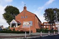 Nederland  Amsterdam-  2020.  Kerk op het Mosplein in Amsterdam Noord. Koptisch Orthodox Bisdom Nederland. Kathedraal van de Heilige Maagd Maria.  Foto : ANP/ HH / Berlinda van Dam