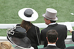 The fashionable scene at the Prix De Diane at Chantilly Race Course in France on June 12, 2011