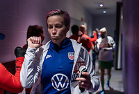 ORLANDO, FL - FEBRUARY 21: Megan Rapinoe #15 of the USWNT leaves the locker room before a game between Brazil and USWNT at Exploria Stadium on February 21, 2021 in Orlando, Florida.