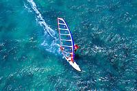 Windsurfer at Kanaha beach on Maui