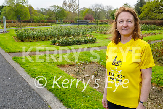 Pauline Barrett in the Tralee Town park on Friday as she is supporting the Mellon Educate Funraiser - Fitzblitz 100KM which will be held in May.