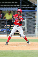 Julio Suarez participates in the Dominican Prospect League 2014 Louisville Slugger Tournament at the New York Yankees academy in Boca Chica, Dominican Republic on January 20-21, 2014 (Bill Mitchell)