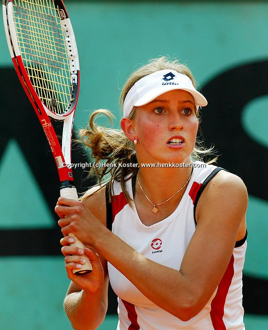 4-6-06,France, Paris, Tennis , Roland Garros, Anouk Tigu