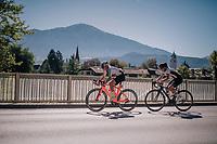 Lara Stehli (SUI) & Katharina Hechler (DEU)<br /> <br /> WOMEN JUNIOR ROAD RACE<br /> Rattenberg to Innsbruck: 71.7 km<br /> <br /> UCI 2018 Road World Championships<br /> Innsbruck - Tirol / Austria