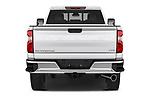 Straight rear view of 2020 Chevrolet Silverado-3500 LTZ 4 Door Pick-up Rear View  stock images