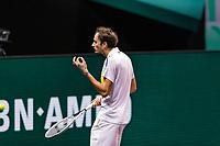 Rotterdam, The Netherlands, 3 march  2021, ABNAMRO World Tennis Tournament, Ahoy, First round match: Daniil Medvedev (RUS).<br /> Photo: www.tennisimages.com/henkkoster