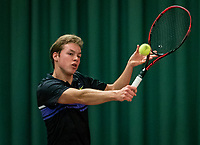 Wateringen, The Netherlands, December 1,  2019, De Rhijenhof , NOJK 12 and16 years, Final boys 16 years: Miko Wassermann (NED)<br /> Photo: www.tennisimages.com/Henk Koster