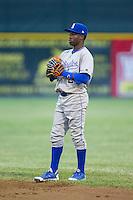 Burlington Royals second baseman D.J. Burt (2) on defense against the Pulaski Mariners at Calfee Park on June 20, 2014 in Pulaski, Virginia.  The Mariners defeated the Royals 6-4. (Brian Westerholt/Four Seam Images)