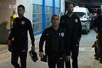Couva, Trinidad & Tobago - Tuesday Oct. 10, 2017:  Pat Noonan and Richie Williams and Kenny Arena during a 2018 FIFA World Cup Qualifier between the men's national teams of the United States (USA) and Trinidad & Tobago (TRI) at Ato Boldon Stadium.