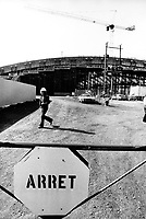 April 28,1975 File photo - construction site of the Montreal Olympic stadium