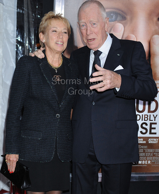 NEW YORK, NY - DECEMBER 15:  Max von Sydow attends the 'Extremely Loud & Incredibly Close' New York premiere at the Ziegfeld Theater on December 15, 2011 in New York City<br /> <br /> People:  Max von Sydow