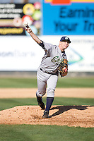 July 18, 2010: Eugene Emeralds' Christopher Franklin (#11) pitches during a Northwest League game against the Everett AquaSox at Everett Memorial Stadium in Everett, Washington.