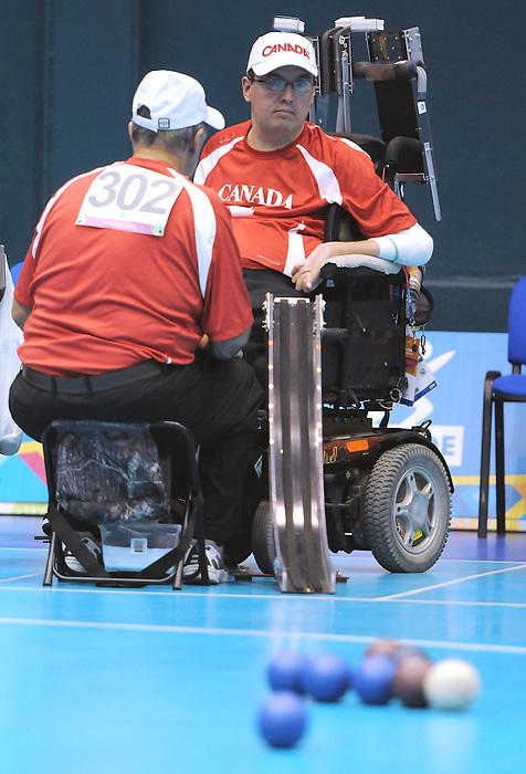 Martin Dubois, Guadalajara 2011 - Boccia.<br /> Martin Dubois during his Bronze Medal Match // Martin Dubois lors de son match pour la médaille de bronze. 11/16/2011.