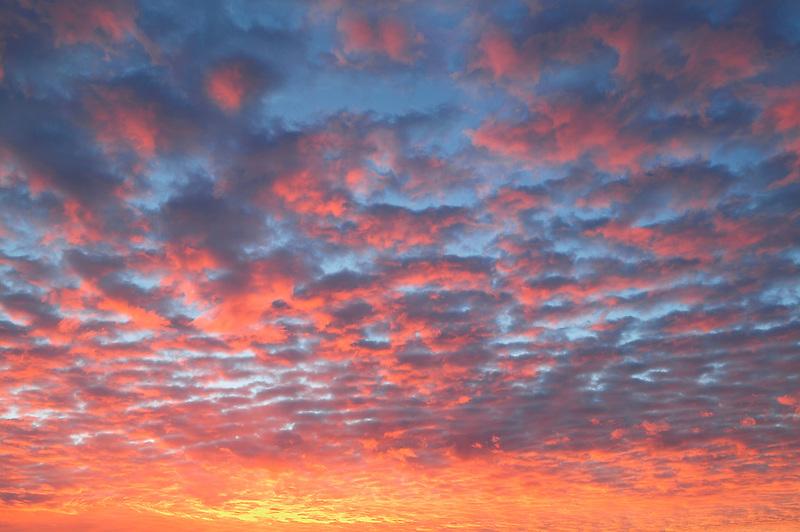 Sunrise clouds over Alabama Hills, California