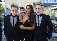 19/05/2015 <br /> Jedward & Nadia Forde <br /> during the Irish mirror pride of Ireland awards at the mansion house, Dublin.<br /> Photo: gareth chaney Collins