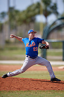 New York Mets Pitcher Johnny Magliozzi (23) during a minor league Spring Training game against the St. Louis Cardinals on March 28, 2017 at the Roger Dean Stadium Complex in Jupiter, Florida.  (Mike Janes/Four Seam Images)