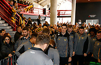Photo: Richard Lane/Richard Lane Photography. Toulouse v Wasps.  European Rugby Champions Cup. 15/12/2018. Wasps players arrive at the stadium.