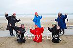 Barbara Grady celebrating her birthday with a swim in Banna on Saturday. Kneeling l to r: Bernie Slattery, Barbara Grady and Roe Stafford. Back l to r: Deirdre Cortney, Angela Ryan and Rachel Fitzgerald.