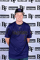 John Carlberg (5) of San Jacinto Valley Academy in Menifee, California during the Baseball Factory All-America Pre-Season Tournament, powered by Under Armour, on January 12, 2018 at Sloan Park Complex in Mesa, Arizona.  (Mike Janes/Four Seam Images)