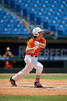 Cooper Kinney (20) of Baylor High School in Chattanooga, TN during the Perfect Game National Showcase at Hoover Metropolitan Stadium on June 19, 2020 in Hoover, Alabama. (Mike Janes/Four Seam Images)