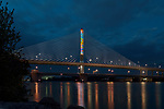 Stained Glass by Brian Strancar | | Toledo Veteran's Glass City Skyway Bridge | HLB Lighting