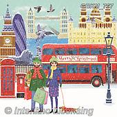 Kate, LANDSCAPES, LANDSCHAFTEN, PAISAJES, paintings+++++,GBKM767,#l#, EVERYDAY ,London,busses,