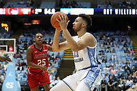 CHAPEL HILL, NC - NOVEMBER 01: Shea Rush #11 of the University of North Carolina takes a shot during a game between Winston-Salem State University and University of North Carolina at Dean E. Smith Center on November 01, 2019 in Chapel Hill, North Carolina.
