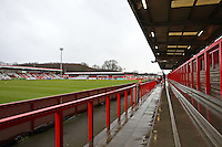 General view of the ground ahead of kick-off - Stevenage vs Oxford United - Sky Bet League Two Football at the Lamex Stadium, Broadhall Way, Stevenage - 31/01/15 - MANDATORY CREDIT: TGSPHOTO - Self billing applies where appropriate - contact@tgsphoto.co.uk - NO UNPAID USE
