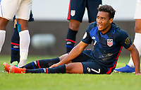 GUADALAJARA, MEXICO - MARCH 28: Jonathan Lewis #7 of the United States during a game between Honduras and USMNT U-23 at Estadio Jalisco on March 28, 2021 in Guadalajara, Mexico.
