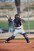 Nick Beck (50), from Littleton, Massachusetts, while playing for the Nationals during the Under Armour Baseball Factory Recruiting Classic at Red Mountain Baseball Complex on December 29, 2017 in Mesa, Arizona. (Zachary Lucy/Four Seam Images)