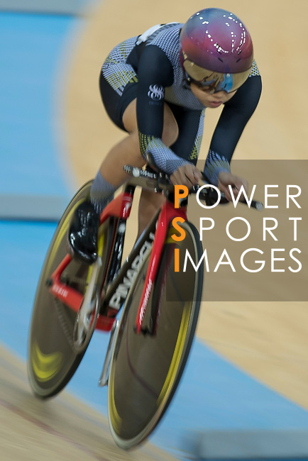 Leung Wing Yee of the Ligne 8- CSR competes in the Women Elite - Individual Pursuit Qualifying category during the Hong Kong Track Cycling National Championships 2017 at the Hong Kong Velodrome on 18 March 2017 in Hong Kong, China. Photo by Chris Wong / Power Sport Images