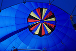 Inside Hot Air Balloon as it is being Filled