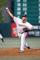 July 15, 2009: Albuquerque Isotopes right-hander Charlie Haeger pitches during the 2009 Triple-A All-Star Game at PGE Park in Portland, Oregon.