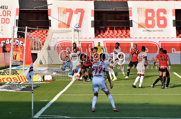 São Paulo (SP), 19/09/2021 - SÃO PAULO-ATLETICO GO - Rigoni, do São Paulo. São Paulo e Atlético-GO, a partida é válida pela 21ª rodada do Campeonato Brasileiro 2021, no estádio do Morumbi, neste domingo (19).