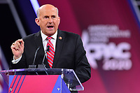 National Harbor, MD - February 27, 2020: U.S. Representative Louie Gohmert speaks during CPAC 2020 hosted by the American Conservative Union at the Gaylord National Resort at National Harbor, MD February 27, 2020.  (Photo by Don Baxter/Media Images International)